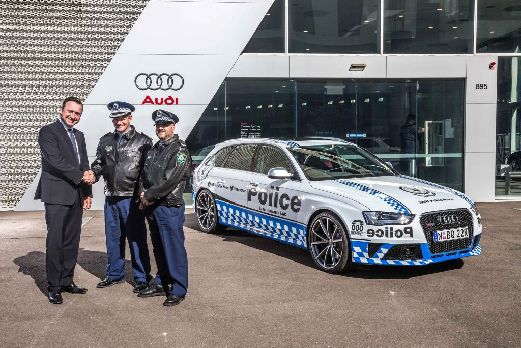 NSW Police's Audi RS 4 Avant. Photo: Contributed