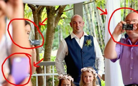 Photo bombers destroy brides special photo
