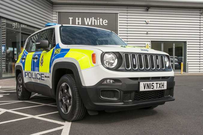 Odd choice? Jeep Renegade police car. Photo: Contributed.