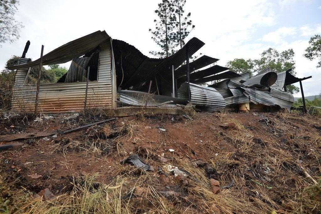 House fire at Kandanga Creek Road, Upper Kandanga.Photo Patrick Woods / Gympie Times