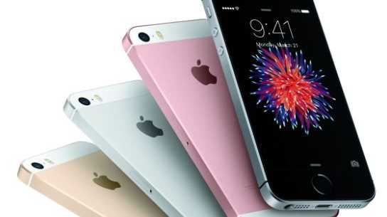 Apple's new iPhone SE comes in an array of colours.