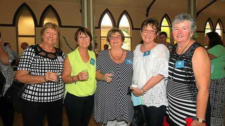 Murwillumbah's Mount Saint Patricks School 50th year anniversary. Class mates from 1965 to 1968:Pauline Hewitson, Christine Walpole, Bernadette Hennessy, Mary Charman and Christine Curtis.