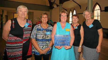 Murwillumbah's Mount Saint Patricks School 50th year anniversary. Class mates from 1964-67: Joanne Stuart, Julie Goulding, Margaret McDermott, Cathy Perandis and Kerrye Marrison.