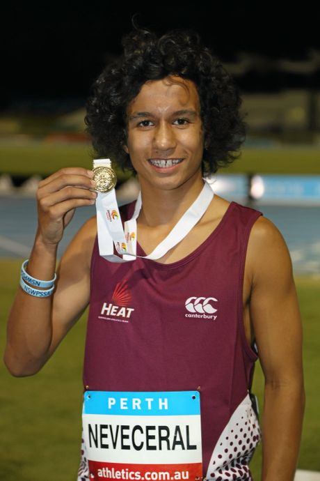 GOLD: Tynan Neveceral is the current Under 14s 100m National Champion, taking the title in Perth on Saturday, March 12.