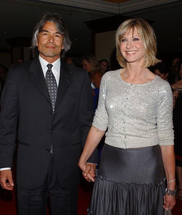 Olivia Newton-John and former boyfriend Patrick McDermott in 2005. Photo: AP