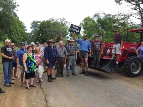 Locals have blocked Maleny-Kenilworth Rd to express their fears over safety.