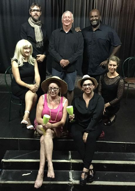 The cast of the David Williamson play When Dad Married Fury to be performed at the Pelican Playhouse in South Grafton on April 1, 2, 3, 8, 9 and 10 (from back left): Bill North, Merv Prior, Desan Padayachee, (middle), Karla Hubbard, Erica Fletcher, (front), Rhonny Mackenzie and Misty Fisher.Photo Bill North / Alejandra Navarrete / The Daily Examiner