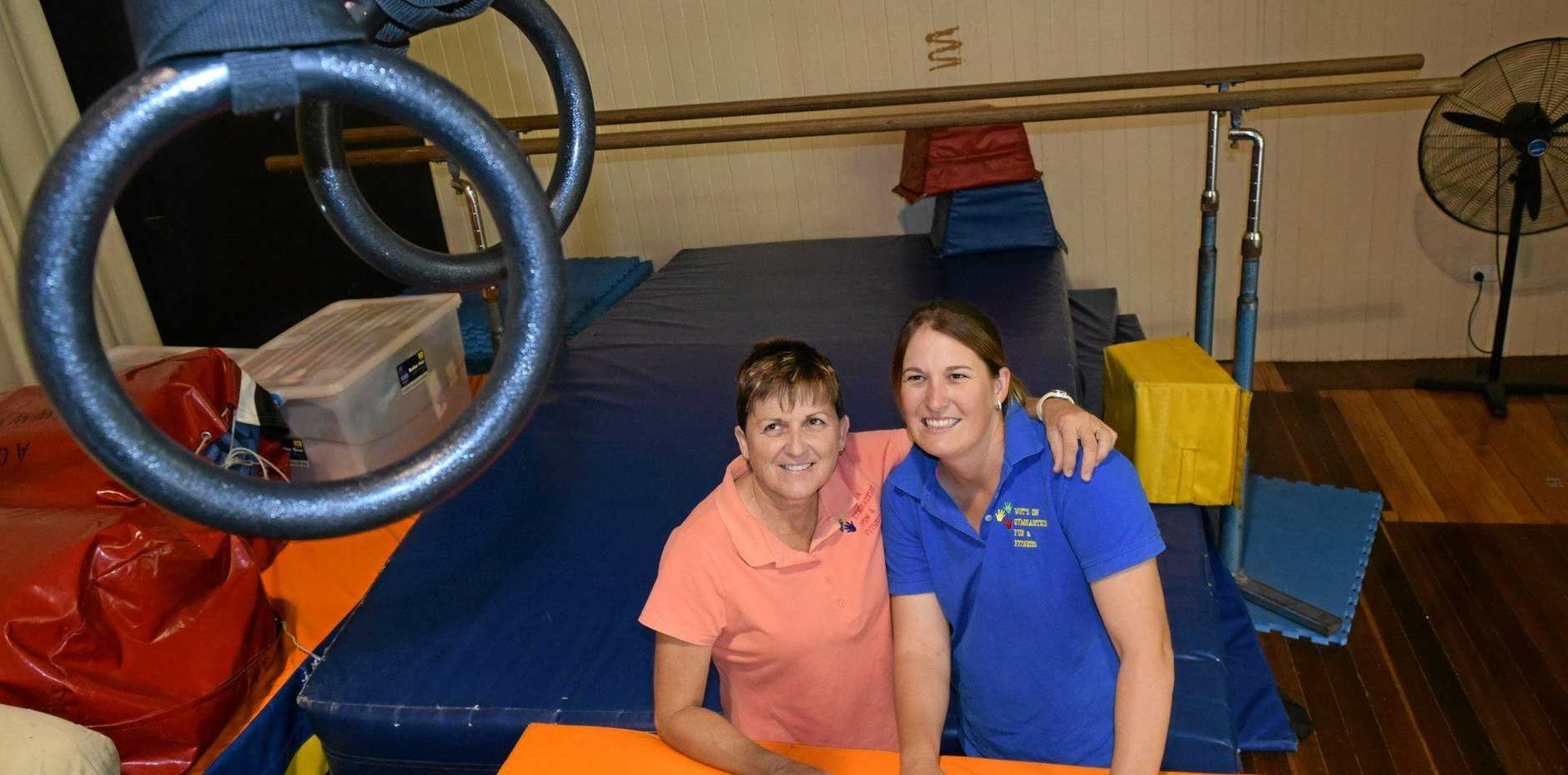 CHANGING HANDS: Mitchell's Kay Watson has passed on her gymnastics business to good friend Luanne Maslen as she prepares to say goodbye to the Maranoa.