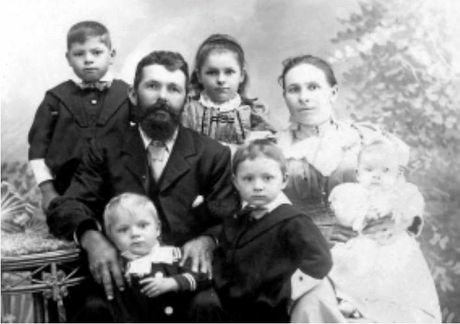John Stephen Lumley with his wife Lydia and their children.