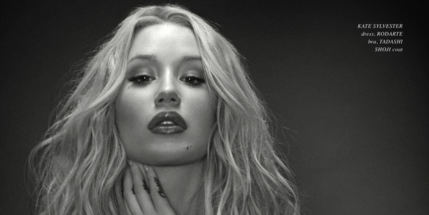 Australian rapper Iggy Azalea has posed topless for a New Zealand fashion magazine in her most revealing photoshoot to date.