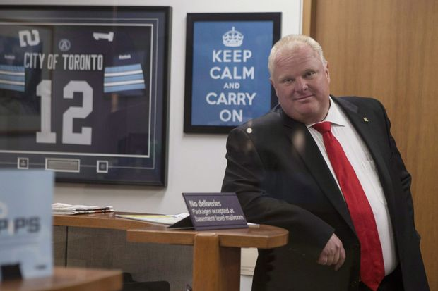 Pugnacious and populist Rob Ford won an election by a landslide despite the scandals that surrounded him. Photo: AP