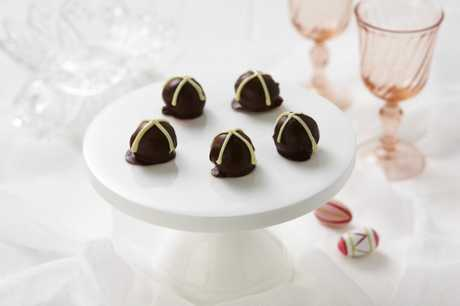 Hot Cross Truffles are another way to celebrate the hot cross bun tradition on Good Friday.