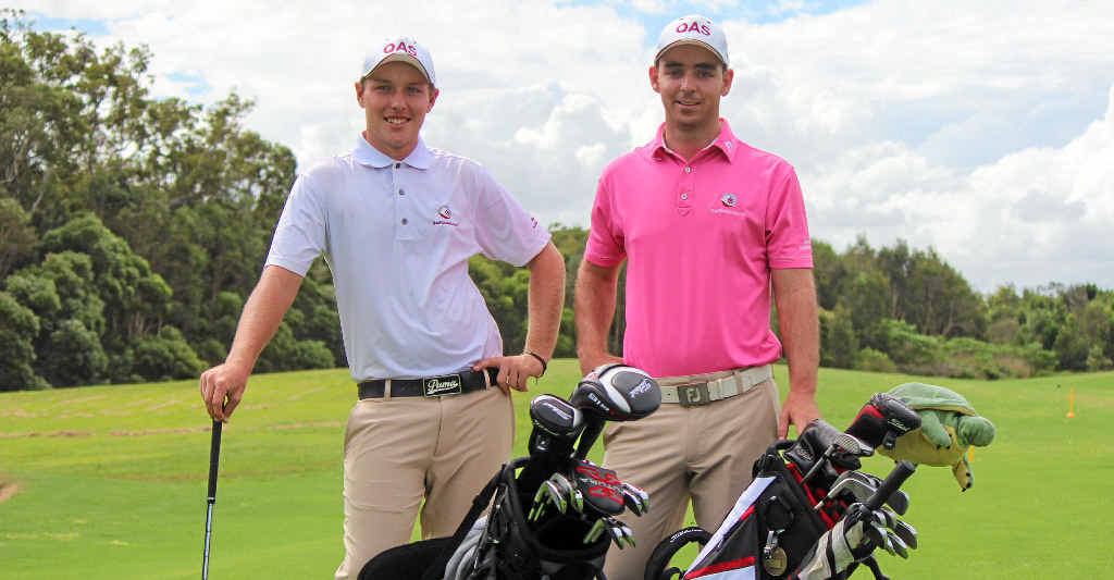 READY: Sunshine Coast members of the state team, Shae Wools-Cobb and Charlie Dann will tee it up at Headland this weekend.
