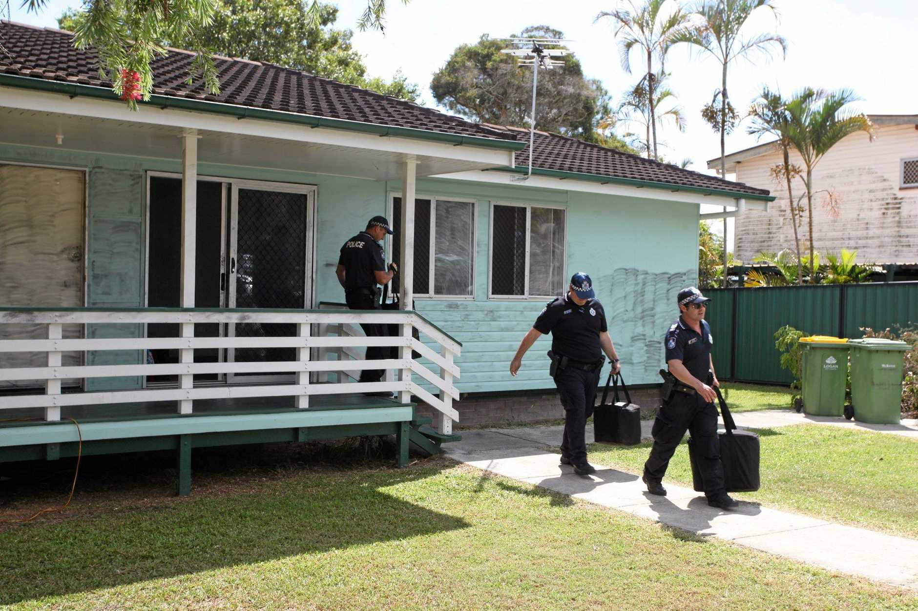 Police search the vacant Waterford West property believed to be linked to the disappearance and death of 12 year old Tiahleigh Palmer last year, for the third day.