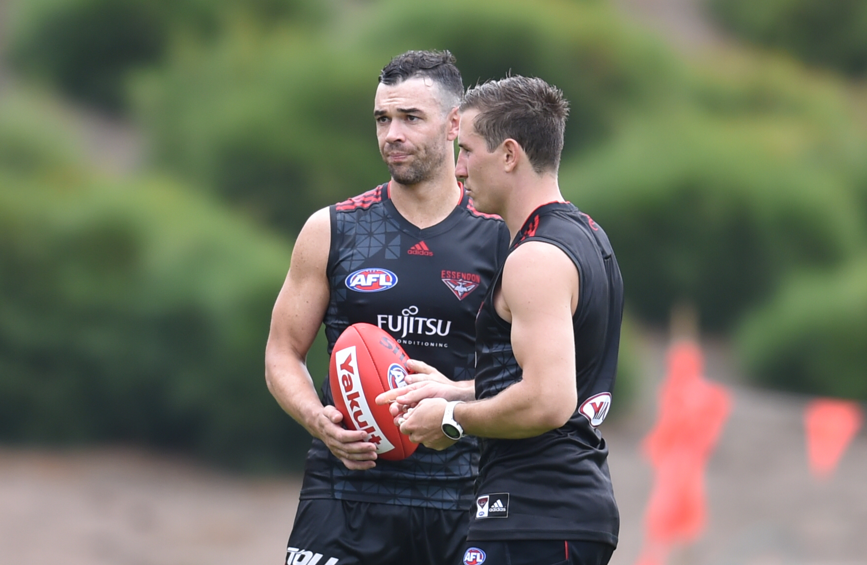 Ryan Crowley will make his debut for the Bombers today. Photo: AAP Image