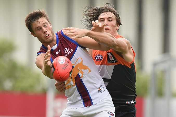 Josh Schache in action for the Lions during the NAB Challenge. Photo: Getty Images.