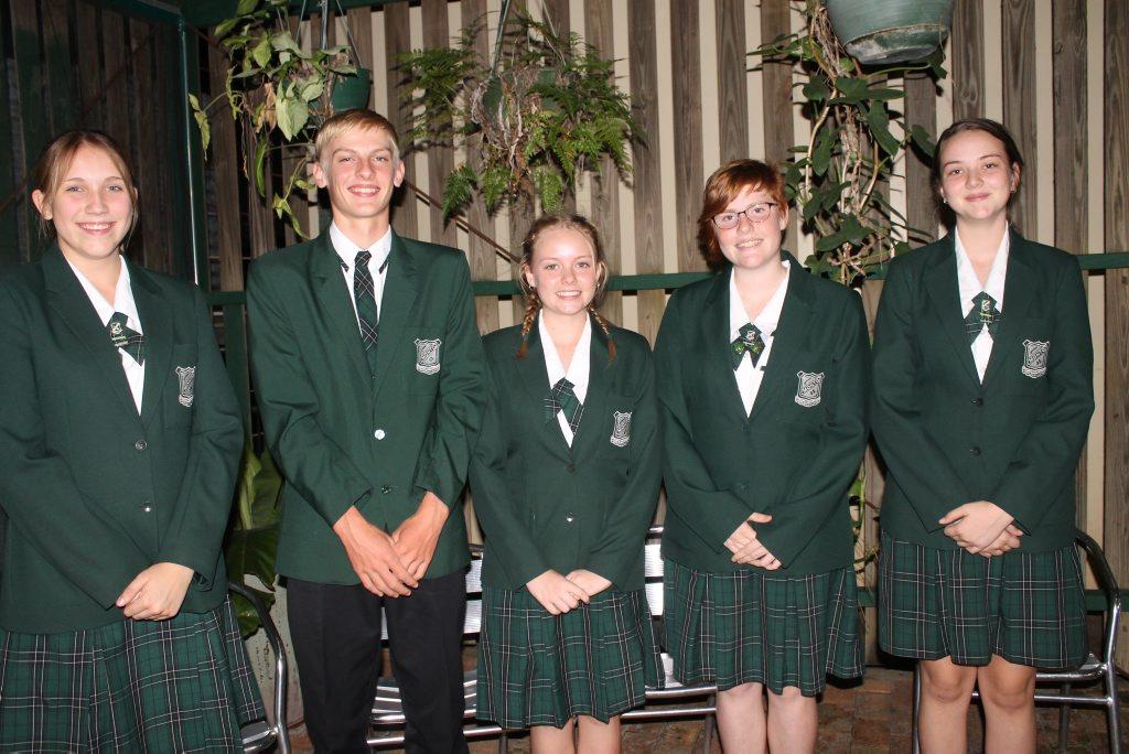 CAREER AMBITIOUS: Monto State High School Beacon student ambassadors for 2016 Kristal Wolff, Angus Dow, Tiarna Coogan, Alexsis Larsen and Naomi Steger.