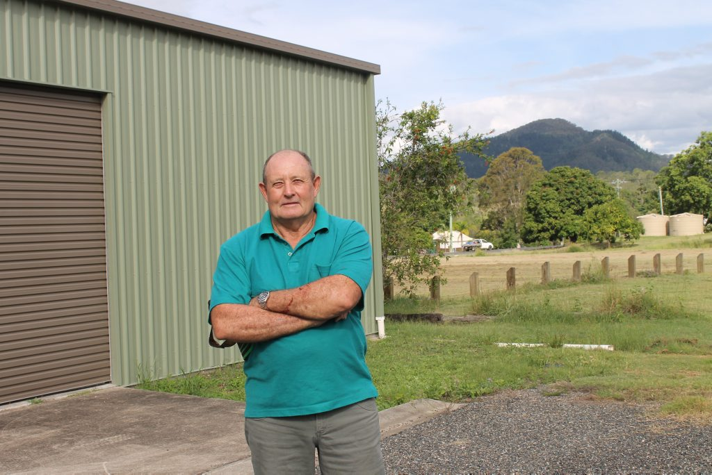 NOT HAPPY: Geoff Bentley said his Mt Perry property has been mistreated for a decade.