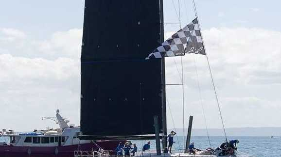LEADER: Monohull Blackjack has the race sewn up. Almost!