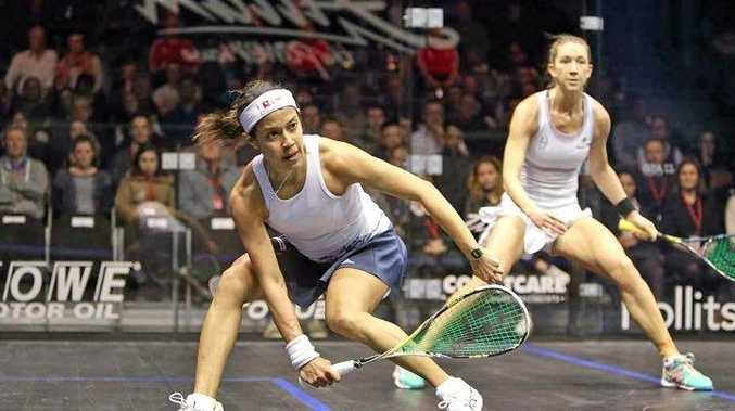 LEARNING EXPERIENCE: Yamba's Donna Urquhart bows out of the Allam British Open in straight sets to Malaysian world number two Nicol David.