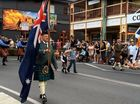 MARCH: The Maclean pipe band marching down River St as part of the Highland Gathering parade.