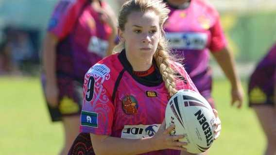 Gladstone United 2 player Madison Spackman at the Indigenous Reconciliation Rugby League Carnival held in Rockhampton. Photo: Chris Ison / The Morning Bulletin