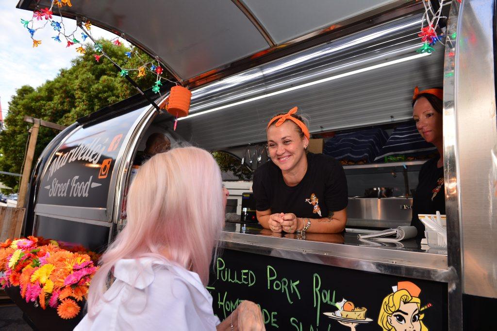 Lamkin Lane in Caloundra came alive with a mini street festival for all ages. Maribelle Vitale. Photo: John McCutcheon / Sunshine Coast Daily