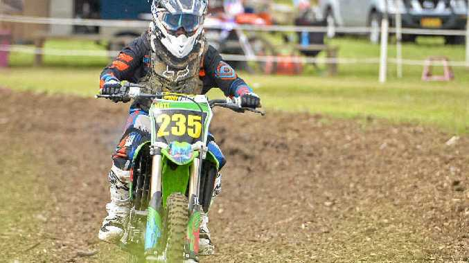 ON TRACK: Youngster Matt Eggleton is determined to ease up on his overly keen starts and temper his adrenalin rush – a factor that is common with young motorsport hopefuls.