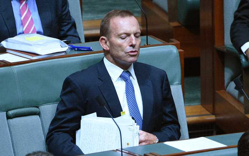 Former prime minister Tony Abbott during Question Time at Parliament House in Canberra on Wednesday, March 16, 2016.