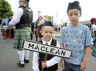 Ryan Orchard and Flynn Essex are at the 112th Maclean Highland Gathering band parade on River Street Maclean on Saturday, 26th March, 2016. Photo Debrah Novak / The Daily Examiner