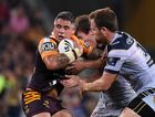 Corey Parker in action for the Broncos against the Cowboys. Photo: AAP Image