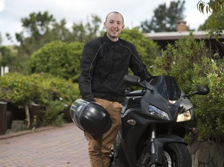 Braden Lang is aiming to set the Guinness World Record for the fastest speed on a motorbike by a terminally ill person, Monday, March 28, 2016.