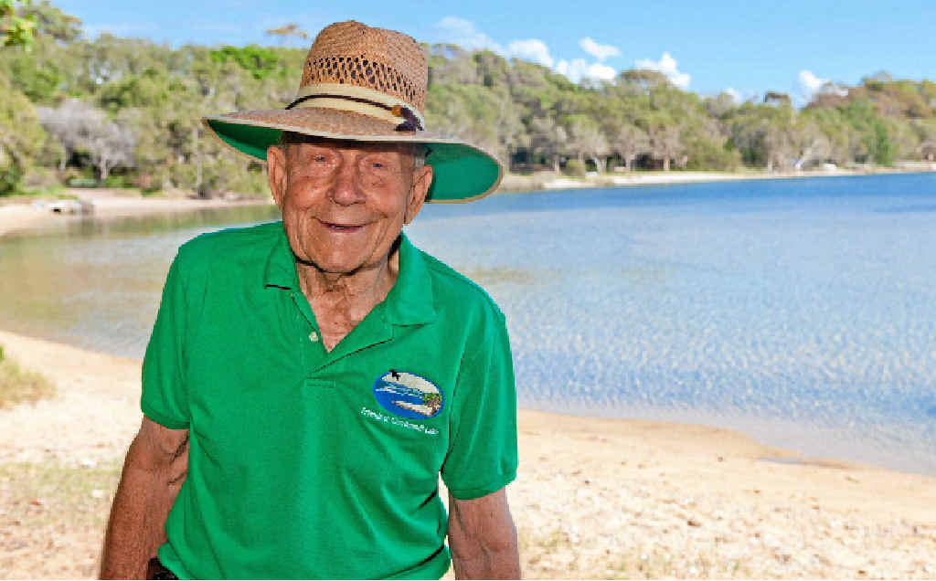 TIRELESS: Cliff Hargreaves dedicated every weekend for more than 40 years to looking after Currimundi Lake.