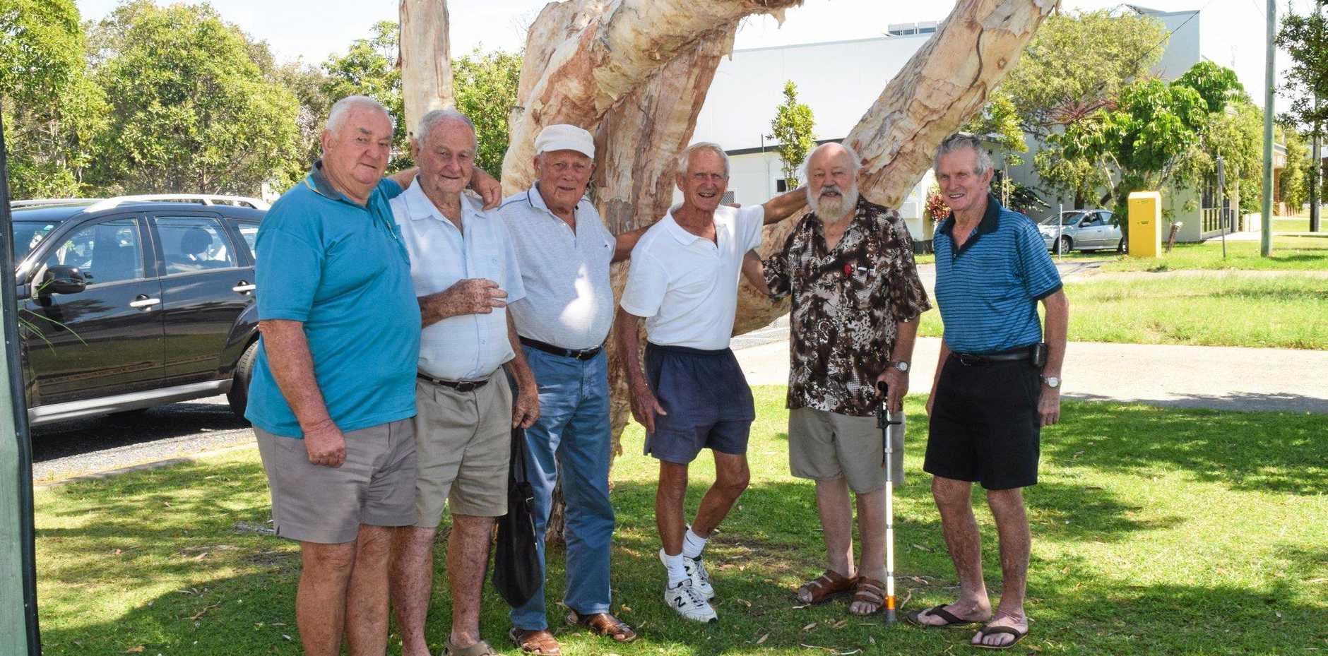LOCAL LEGENDS: Woolgoolga Men's Club president Trevor Goldthorpe with member Jack Goodenough, treasurer Ian MacAndrew, secretary Barry Scholfield and members Errol Stevens and Noel Bultitude.