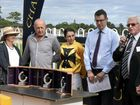 HEAT WIN: Trainer Stephen Lee and jockey Tegan Harrison after Profiler won the Country Championships Northern Rivers Regional Qualifier at Grafton on March 6.