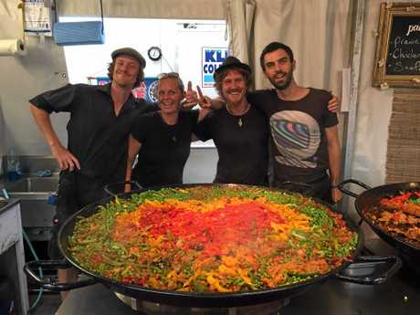LOCAL FLAVOURS: The local team at Paella Time offered delicious food for Bluesfest revellers.