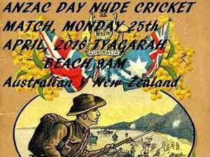 Middle stump exposed: Nude cricket match for Anzac Day
