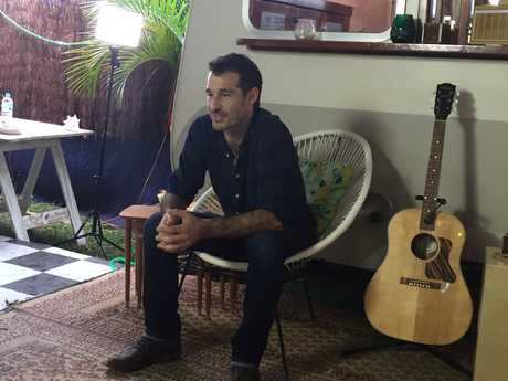 FRONTMAN: Felix Riebl of The Cat Empire minutes before his Easter Sunday show at Bluesfest.