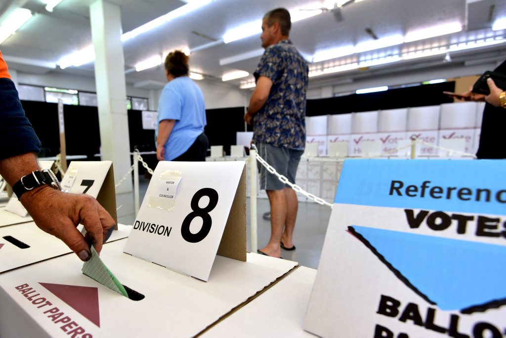 Pre-poll voting opens at Tozer Street, Gympie. March 14, 2016.Photo Patrick Woods / Gympie Times