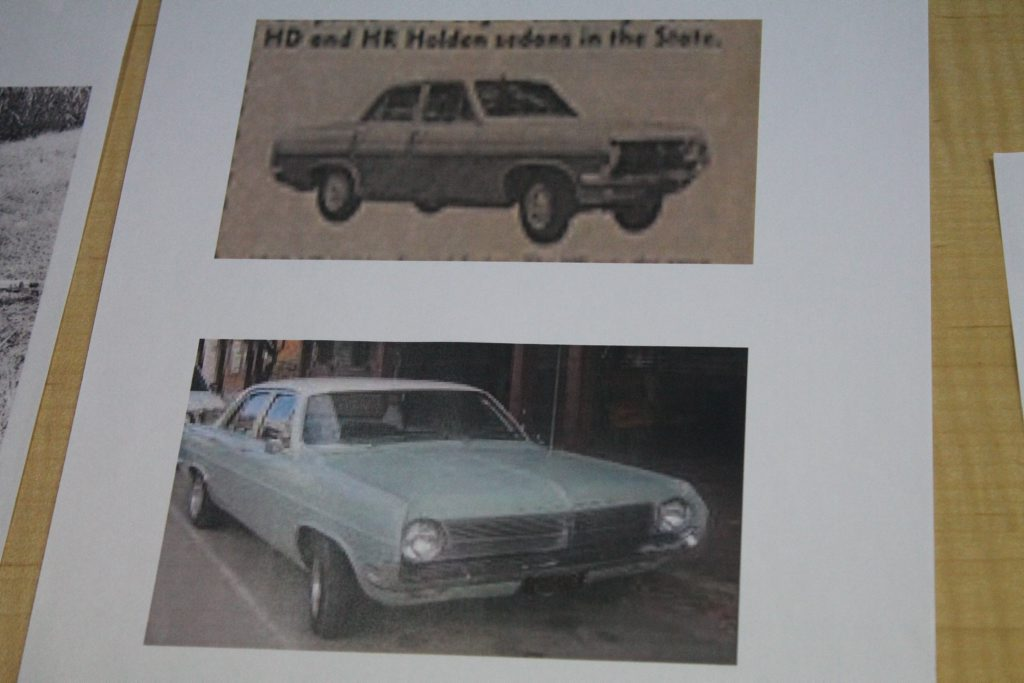 Police are asking for information about an aqua and white HD or HR Holden on Mirani Mt Ossa road in 1972 or anyone who would've owned this time of car at the time. Photo Contributed