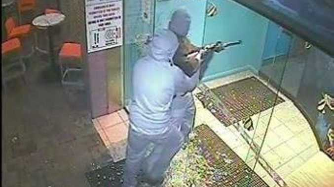 CCTV footage from the armed robbery at the East End Hotel, Bundaberg.