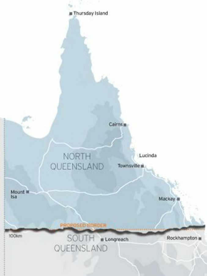 Proposed North Queensland map