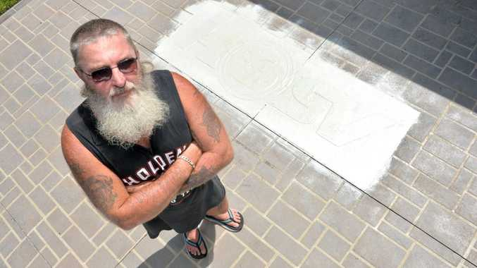 Russell Pianta whose Bucasia Ddriveway keeps getting vandalised.