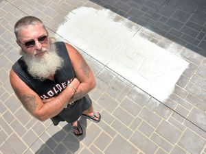 WATCH: Vandals attack man's HSV logo on driveway