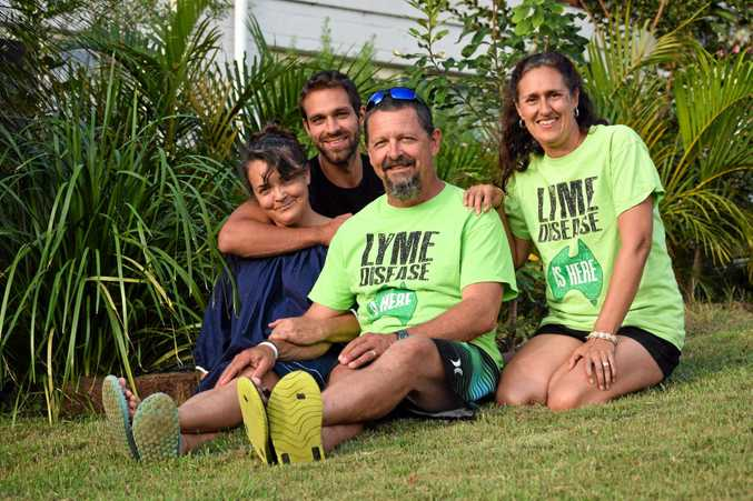 HARD ROAD: Lyndy Rees, Jamie David, Steve Young and Sara Walker are advocating to the Australian government to recognise Lyme-like illness.