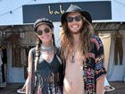 ZZJayme Fielding and Boyd Young in 70s rock-style sunnies for Bluesfest 2016 in Byron Bay.