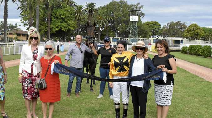 WINNING CONNECTIONS: Five-year-old gelding Profiler won the $100,000 Northern Rivers Racing Association Country Championships Regional Qualifier (1400m) at Clarence River Jockey Club in Grafton on March 6.