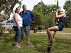 FED UP: Narelle and Nood Nothdurft, with daughter Prezlee on their property, Bellara.