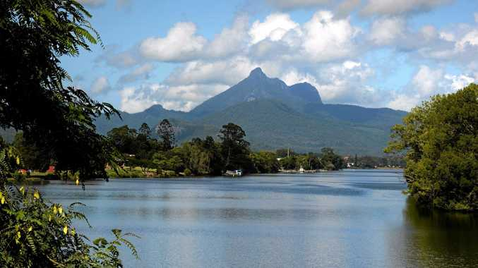 A man was rescued from the summit of Mount Warning yesterday.