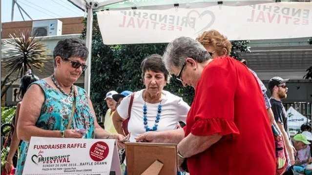 Raising money at Eat the Street for the Frienship Festival